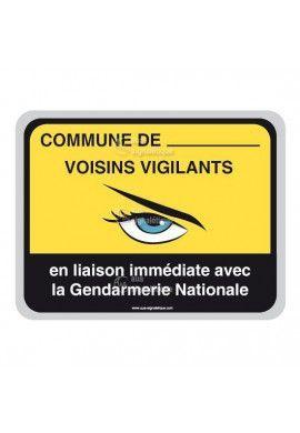 Panneau Commune - Gendarmerie Nationale - AP