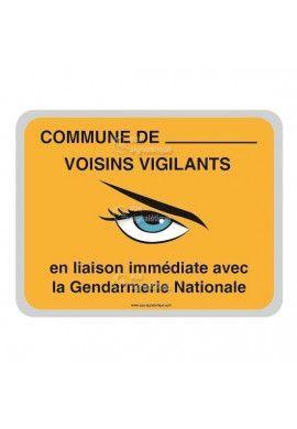 Panneau Commune - Gendarmerie Nationale - AP - V2