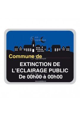 Panneau Commune, Extinction de L'Eclairage Public