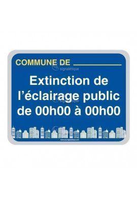 Panneau Commune, Extinction de L'Eclairage Public - V2