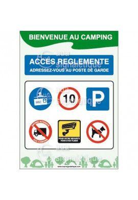 Panneau Bienvenue au Camping -Verti