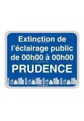 Panneau Prudence, Extinction de L'Eclairage Public