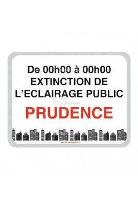 Panneau Prudence, Extinction de L'Eclairage Public - V2