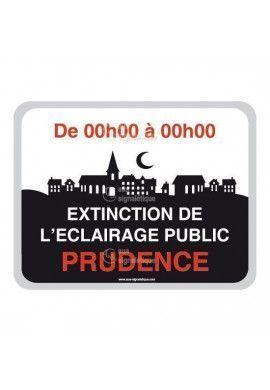 Panneau Prudence, Extinction de L'Eclairage Public - V3