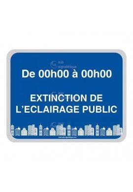 Panneau Extinction de L'Eclairage Public