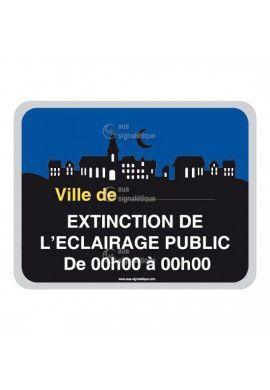 Panneau Ville, Extinction de L'Eclairage Public