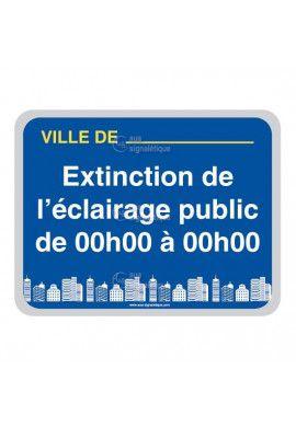 Panneau Ville, Extinction de L'Eclairage Public - V2
