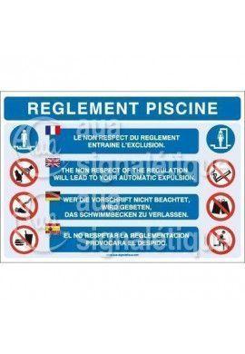 Panneau Règlement Piscine