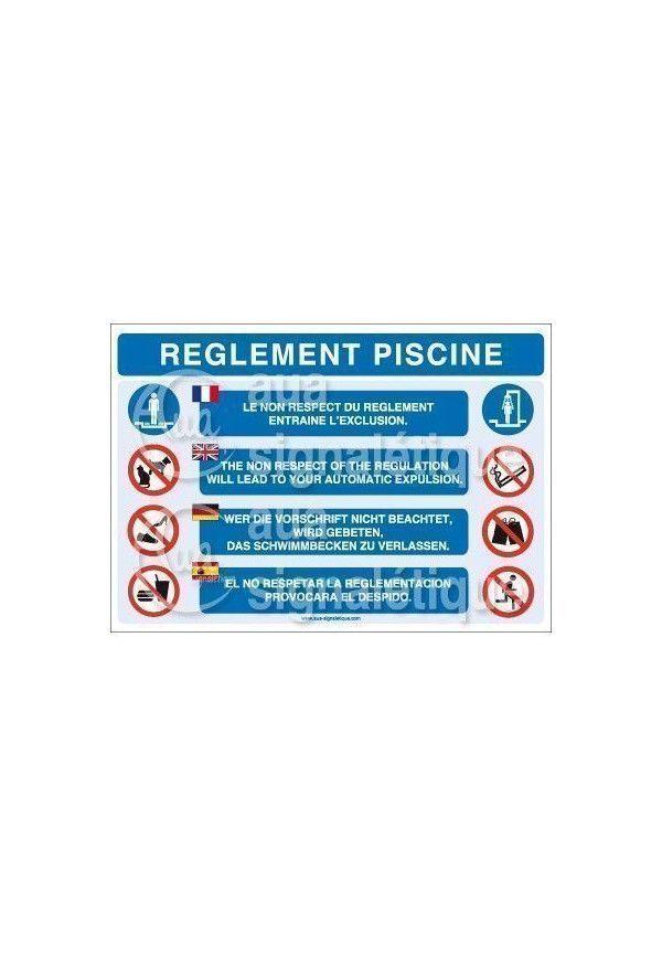 Panneau r glement piscine for Regle de securite piscine