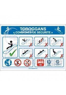 Panneau Toboggan