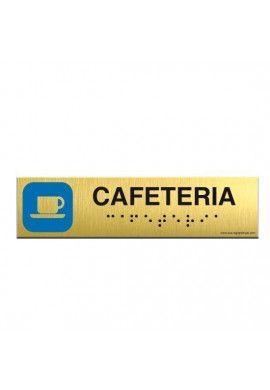 Alu Brossé - Braille - Cafeteria 200x50mm