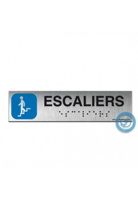 Alu Brossé - Braille - Escaliers descendant 200x50mm