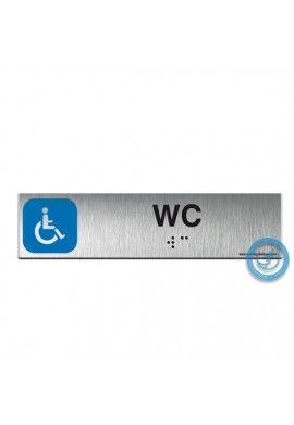 Alu Brossé - Braille - WC Handicapés 200x50mm