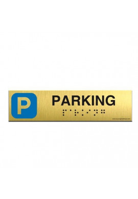 Alu Brossé - Braille - Parking 200x50mm