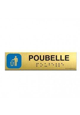 Alu Brossé - Braille - Poubelle 200x50mm