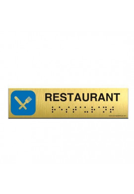 Alu Brossé - Braille - Restaurant 200x50mm