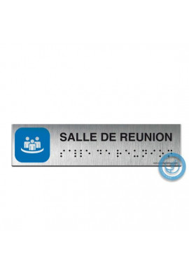 Alu Brossé - Braille - Salle de réunion 200x50mm