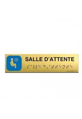 Alu Brossé - Braille - Salle d'attente 200x50mm