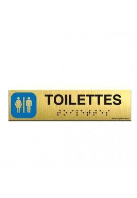 Alu Brossé - Braille - Toilettes 200x50mm