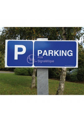Kit Panneau PARKING aluminium Plats 3mm (480x180 mm)