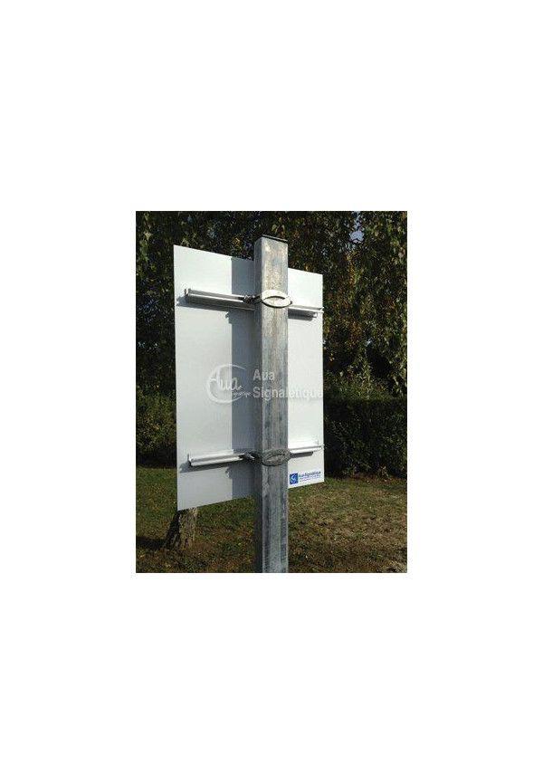Kit Panneau point de rassemblement aluminium 3mm (450x630mm)