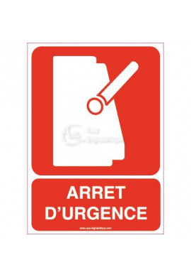 Panneau Arrêt D'urgence Vertical