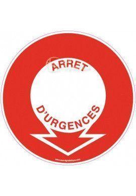 Panneau Emplacement Arrêt d'urgence