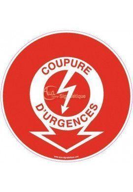 Panneau Coupure d'urgence