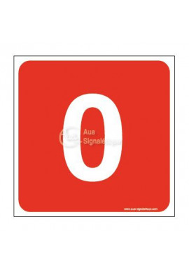 Panneau numéro zéro