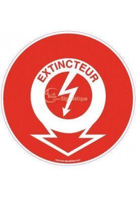Panneau Emplacement Extincteur - Eclair