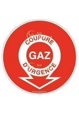 Panneau coupure gaz d'urgence