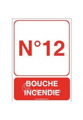 Panneau Bouche Incendie - Verti