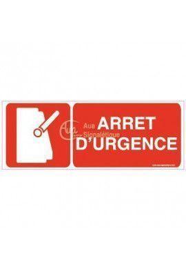 Panneau Arrêt d'urgence avec picto-B