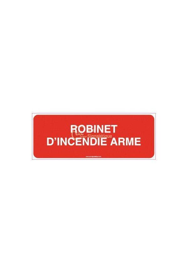 Panneau Robinet d'incendie armé