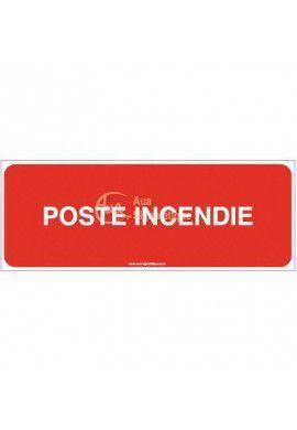 Panneau Poste incendie - B