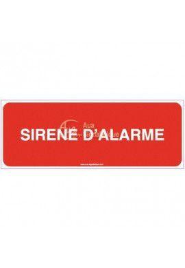 Panneau Sirène d'alarme - texte - B