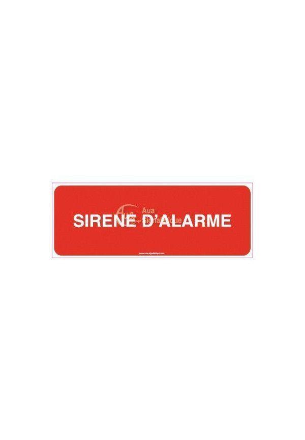 Panneau Sirène d'alarme - texte - H