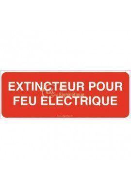 Panneau Extincteur pour feux électriques - B