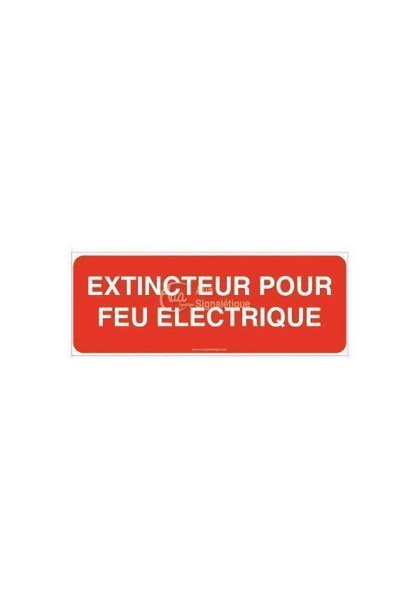 Panneau Extincteur pour feux électriques