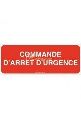 Panneau Commande d'arrêt d'urgence - B