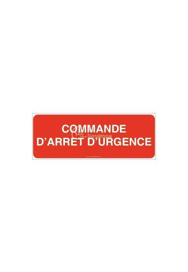 Panneau Commande d'arrêt d'urgence-B