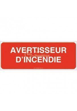Panneau Avertisseur d'incendie - B