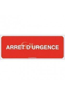 Panneau Arrêt d'urgence-B