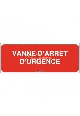 Panneau Vanne d'arrêt d'urgence - B