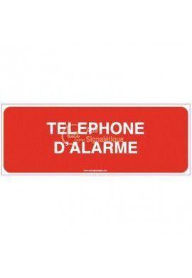 Panneau Téléphone d'alarme - texte - B
