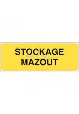 Panneau Stockage mazout - B