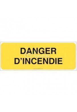 Panneau Danger d'incendie - B