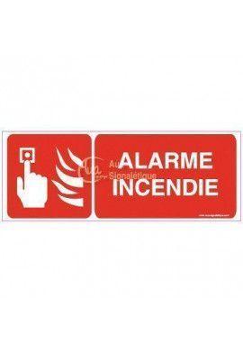 Panneau Alarme incendie avec picto - B