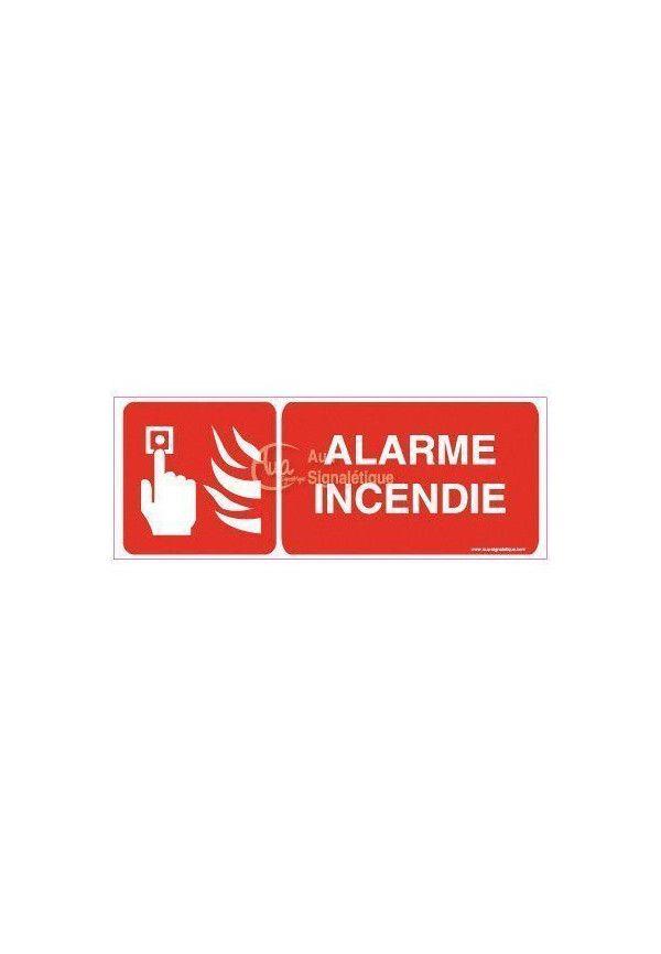 Panneau Alarme incendie avec picto-B