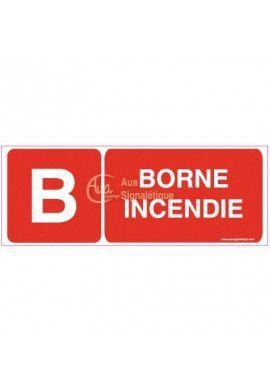 Panneau Borne incendie-B